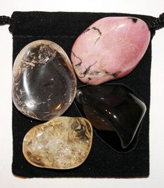 FINDING Your PATH Tumbled Crystal Healing Set = 4 Stones + Pouch + Card #TumbledSet