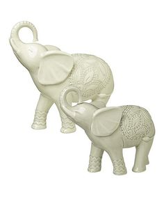 Look what I found on #zulily! Elephant Figurine Set #zulilyfinds