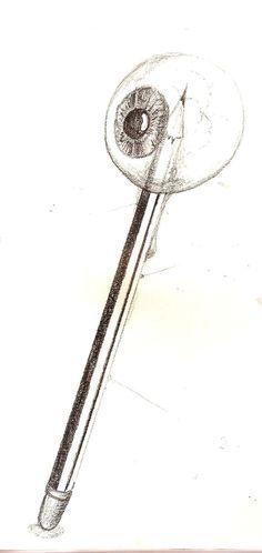 Pencil through the eye..