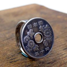 NIPPON  Japanese  coin and sterling silver ring by markaplan, $48.88