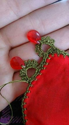 Crochet with beads. Bead Crochet, Crochet Earrings, Saree Tassels, Bolster Pillow, Needle Lace, Lace Design, Crochet Designs, Tatting, Diy And Crafts