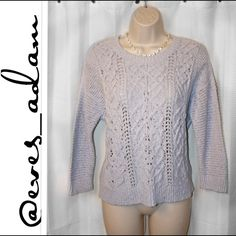 """Light Blue Lauren Conrad Sweater This gorgeous sky blue Lauren Conrad sweater is so soft, made of 90% cotton and 10% nylon for a breathable comfort. Features a spliced open back to wear a cami underneath or not at all. This is preloved but in great condition. No stains and a smoke free home. Approximately 22.5"""" from shoulder to bottom hem. Lauren Conrad Sweaters"""