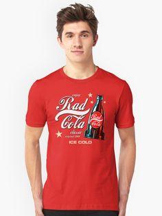'Rad Cola' T-Shirt by Remus Brailoiu Videogame, My T Shirt, Fallout, Coca Cola, Cool T Shirts, Chiffon Tops, Classic T Shirts, Shirt Designs, Community