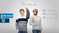 Sims 4 CC's - The Best: Sweater for Men by Simsfosure