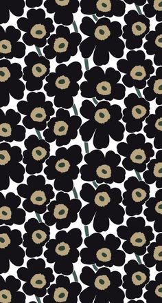 マリメッコ/ウニッコ02 iPhone壁紙 Wallpaper Backgrounds iPhone6/6S and Plus Marimekko Unikko iPhone Wallpaper