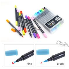 Cheap pen retractable, Buy Quality marker pen white directly from China marker gun Suppliers:                10 pcs TouchNEW 168 Colors Alcohol Based Double-ended Permanent Marker Twin Tip Dual Nip Double Art Marke