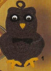 free crochet owl potholder pattern