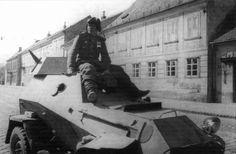 Soviet BA-64 armored car in Vienna, Austria, Apr-May 1945