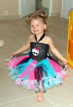 Monster High Themed Tutu Dress by Myprincessbirthday on Etsy, $35.00