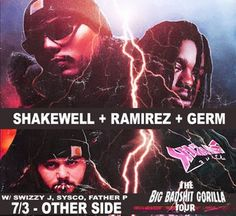 Suicide Boys bring that horrorcore rage rap with Shakewell, Ramirez & Germ to Cervantes' Other Side this Monday!