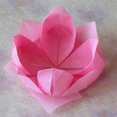 Origami lotus flower tutorial origami lotus and easy origami flower see more forminha lotus mightylinksfo