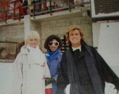 filming Last Christmas 1984 George Michael 80s, Michael Love, Beautiful Voice, Beautiful Person, Beautiful People, I Want A Hug, Andrew Ridgeley, Last Christmas, Christmas Ideas