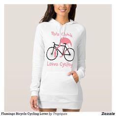 Flamingo Bicycle Cycling Lover Tee Shirt