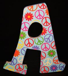 Peace sign painted letter