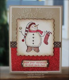 Hope your Christmas is snow much fun Christmas Craft Fair, Christmas Snowman, Christmas 2019, Christmas Ideas, Xmas Cards, Holiday Cards, Stamping Up Cards, Rubber Stamping, Snow Much Fun