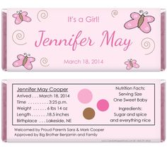free printable candy bar wrappers for baby showers boy or girl
