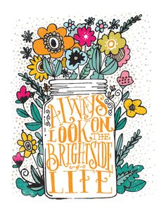 ALWAYS LOOK ON THE BRIGHT SIDE... Art Print by Matthew Taylor Wilson | Society6