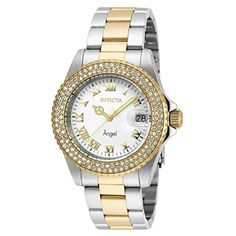 Invicta Women's Angel Gold-Tone Steel Bracelet & Case Swiss Quartz White Dial Analog Watch 20503. Brand: Invicta. Band Color and Material: Gold/Stainless Steel / Stainless Steel. Dial Color and Material: Gold/Stainless Steel / Stainless Steel. Case Type: Stainless Steel. Water Resistant: 200 Meters.