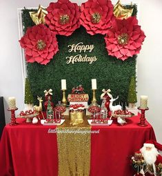 to 2016 Christmas party. Decoration and table set up by me beautiful bottles by delicious dessert by… Christmas Party Backdrop, Christmas Birthday Party, Christmas Backdrops, Birthday Party Tables, Christmas Party Games, Christmas Party Decorations, Christmas Sweet Table, Christmas Diy, Christmas Candy Bar