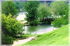 This is Zilker Park in Austin, Texas. It has awesome hiking and biking trails. Barton Springs is located there. Plus, it's where Austin City Limits is held every year.