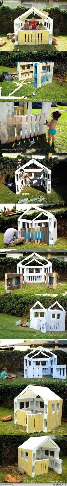 Ted's Woodworking Plans - c projet cabane pour baby Noé. quand il sera plus grand :-) Get A Lifetime Of Project Ideas & Inspiration! Step By Step Woodworking Plans Pallet Crafts, Pallet Projects, Diy Projects, Project Ideas, Diy Pallet, Pallet Ideas, Furniture Projects, Kids Furniture, Simple Playhouse