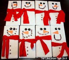 The Educators' Spin On It: Snowmen Candy Bars Make Great Teacher Gifts