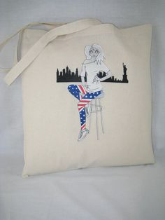Tote Bag 100% Cotton Liberty Light Alice design by AliceBrands Fab, Fun Tops, Tees and Totes... http://etsy.com/uk/shop/AliceBrands http://alicebrands.co.uk/Categories/31/Tee+%27N%27+Totes