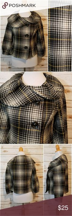 Crop Plaid Jacket Mossimo EUC plaid jacket Mossimo Supply Co Jackets & Coats