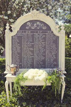 Shabby Chic Wedding Seating Plan  #shabby #chic #wedding