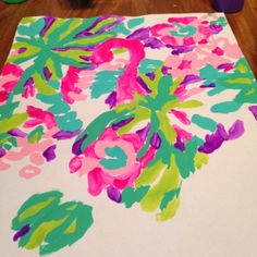 DIY: How to Paint Lilly Pulitzer's Lulu Print from @Kelly Teske Goldsworthy Teske Goldsworthy Teske Goldsworthy Louie