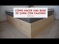 Cama Design, Storage Chest, Cabinet, Wood, Furniture, Home Decor, Youtube, Art, Wooden Beds