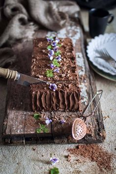 Biscuit cake with coffee & chocolate