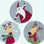 Santa & Reindeer Coasters - via @Craftsy