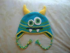 Free Crochet Monster Hat Pattern.