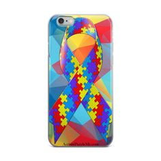iPhone case Support the Autism Puzzle Me Project Ribbon