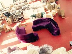 Purple velvet disco  only at Del Pero Artisans  Let's keep in touch !!!!!