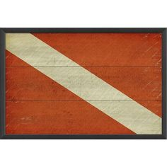 The Artwork Factory Diver Down Flag Framed Graphic Art