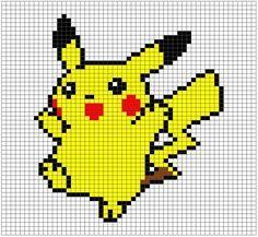 Pikachu Pixel Art Grid by Hama-Girl on DeviantArt Pikachu Pikachu, Pixel Art Pikachu, Image Pikachu, Art Pokemon, Beaded Cross Stitch, Cross Stitch Embroidery, Cross Stitch Patterns, Grille Pixel Art, Pokemon Blanket