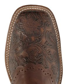 Boulet Tooled Ranger Cowgirl Boots - Square Toe---this maybe the only square toe i have ever liked!!