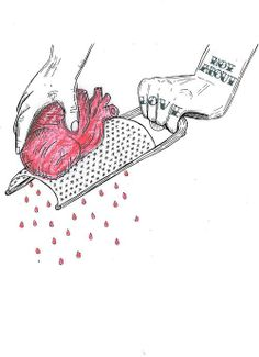 not about love illustration Sad Drawings, Dark Art Drawings, Pencil Art Drawings, Drawing Sketches, Drawings About Love, Broken Heart Drawings, Broken Heart Art, Broken Heart Sketch, Art Triste
