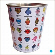 little miss and mr. men trash can