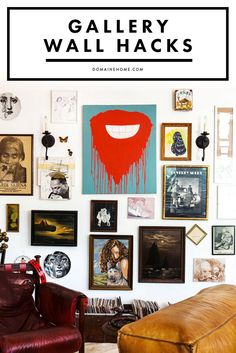The 5 best tricks for hanging a beautiful gallery wall of art.