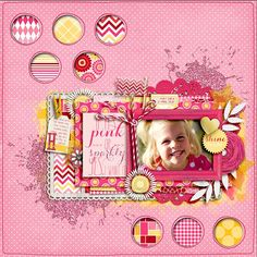 **NEW** Bubblegum Beauty by Robin Carlton and Ju Kneipp Punched Out Templates by Lauren Grier AVAILABLE at Sweet Shoppe Designs 6/28  Border...