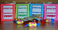 Thank you for being so sweet treat bags for students