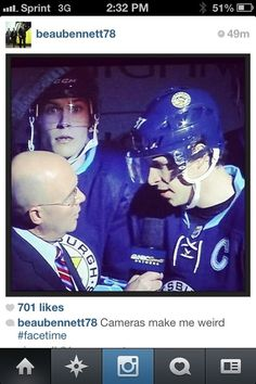 Beau's photobomb--i hate the pens but this is funny lol