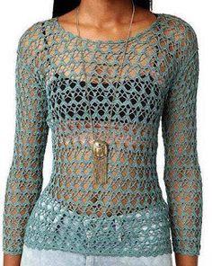 Tina's handicraft : long sleeve blouses crochet