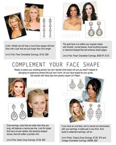 Earrings For Your Face ShapEarrings to fit your face shape..... never would have thought