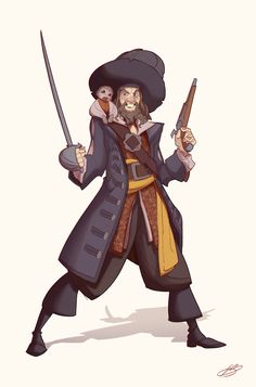"Pirates of the Caribbean, Valerio ""Dreelrayk"" Buonfantino Pirate Boy, Pirate Life, Caribbean Art, Pirates Of The Caribbean, Will Turner, Jack Sparrow Dibujo, Comic Character, Character Design, Pirate Cartoon"