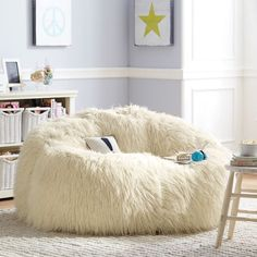 Ivory Furlicious Cloud Couch | PBteen