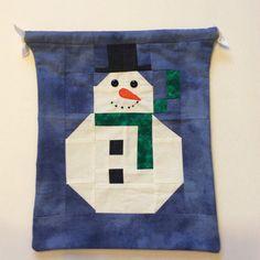 Christmas Gift Bag Fabric Gift Bag Drawstring Bag by giftgarbbags